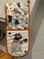 Double Oven Gloves Kitchen BBQ Cooking Padded Heat Resistance Mitten Pot Holders
